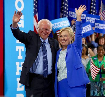 Hillary-Bernie Horiz - 1